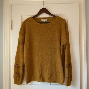 NWOT soft Knox rose ochre yellow sweater